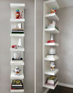 Vertical shelf declutter